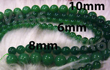 DIY Green Aventurine 8mm Gemstone Round Gemstones Beads Jewelry Craft Batu Asli