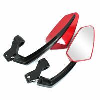 Moto Rojo Espejo Retrovisor 2 pcs lateral vista trasera Punto ciego Espejo 10mm