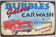Bubbles Car Wash TIN SIGN vintage rustic funny bar garage decor metal poster OHW