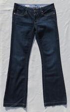 GAP Women's Dark Blue Stretch Denim Long & Lean Jeans size S 27 4 4r fits 6 EUC