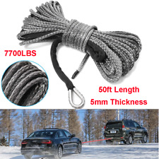 50FT Capstan Rope Synthetic Fiber Winch Line Cable Rope for Car SUV ATV UTV Jeep
