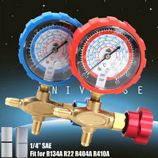 "1/4"" Air Conditioning Pressure Single Manifold Gauge for R134A R22 R404A R410A"