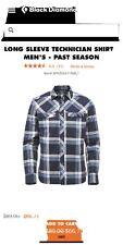 Black Diamond Technician Long Sleeve Shirt - Men's, Captain/Blue Steel Plaid, Sm