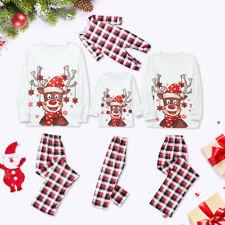 New Family Matching Adult Kids Christmas Pyjamas Xmas Nightwear Pajamas PJs Sets