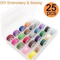 25 Colors Polyester Embroidery Bobbin Thread 60WT Size A for Embroidery & Sewing