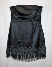 Princess Charm Brand Black Strapless Floral Embroidery Dress Size 3XL  #AN02