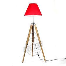 Classy Room Floor Lamp Stand Teak Wood Tri-Pod Corner Studio/Office Lamps Stand