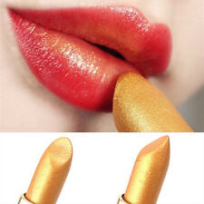 1x Mermaid Golden Lipstick Shimmer Gold Metallic Lip Blam Long Lasting Eyeshadow