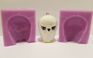 HARRY POTTER INSPIRED HEDWIG OWL 3D SILICONE MOULD FOR CAKE TOPPERS CHOCOLATE