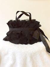 COAST BLACK TIERED FRILL BOW TRIM SPECIAL OCCASION / EVENING  BAG