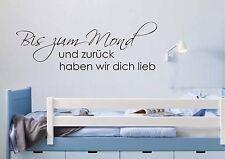 WD Wandtattoo BIS ZUM MOND LIEBE SPRUCH Bild Wandsticker Kinderzimmer Aufkleber