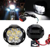 2x 12V Weiß LED Roller Motorrad Fernscheinwerfer Zusatzscheinwerfer Nebelleuchte