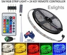 RGB LED STRIP LIGHTS IP65 WATERPROOF 5050 5M 300 LEDS 12V + 24 KEY IR CONTROLLER