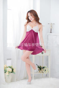 NightLife lace Gown underwear lady sexy girl Doll lingerie transparent dress 018