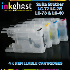 Refillable Cartridges compatible with Brother LC77 LC73 MFC J6510 J6710 J6910