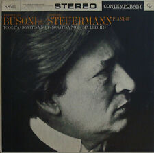Steuermann: Busoni Toccata, 2 Sonatinas + 6 Elegies: Contemporary Records S 8501