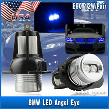 12W BLUE Angel Eye Halo LED Light For 06-08 BMW 3-series E91 E90 325i 328i 335i