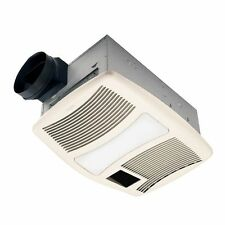 Nutone QTXN110HFLT Ultra Silent 110 CFM Ceiling Exhaust Fan with Light and Heat