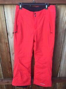 ⛰ Columbia Women's Medium Modern Mountain 2.0 Ski Snowboard Pants Coral See Pics