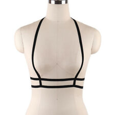 Sexy Goth Lingerie Elastic Harness Cage Bra Cupless Bandage Body O-Ring (S0037)