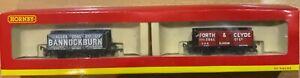 HORNBY PLANK WAGON SET OF 2...SCOTTISH COAL INTEREST. MINT BOXED