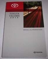 Toyota Tacoma 2013 Manuel du Proprietaire owners manual in FRENCH Canadien