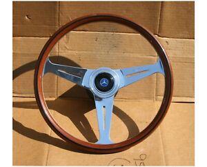Vintage Mahogany Nardi Steering Wheel Mercedes Benz  280SL 450SL All 67-75 Model