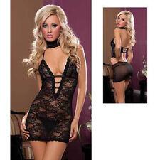 Women Sexy/Sissy Lace Lingerie Babydoll - G-String Thong Nightwear Underwear S-L
