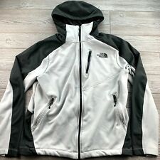 * THE NORTH FACE Gray Soft Shell full zip Hooded JACKET Large