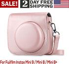 For Fujifilm Instax Mini 8 8 9 Protective Camera Case Bag Vegan Leather Pink