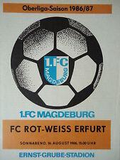 Programm 1986/87 1. FC Magdeburg - RW Erfurt