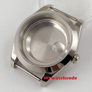 Polished 39.5mm 316L stainless steel Watch CASE fit ETA 2836 Miyota 8215 821A