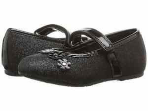 Rachel Lil Madeline Black Glitter Dress Shoes Toddler Girl Size 8 NEW