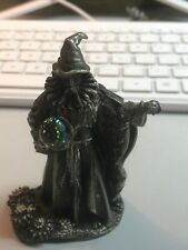 "Wizard of Summer Tudor Mint Myth & Magic Uk Pewter Wpw 3 1/2"" Crystal Heavy (ff)"