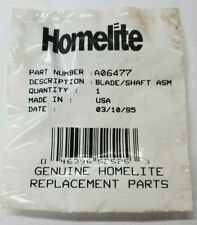 OEM HOMELITE A06477 BLADE AND SHAFT ASSEMBLY NLA