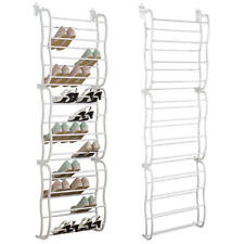 Over the Door Shoe Rack White 36 Pairs 12 Layers Rack Organizer Space Saving