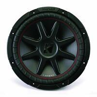 Kicker CompVR CVR 12 Dual 4 Ohm Voice Coil Car Subwoofer - 800W - 43CVR124