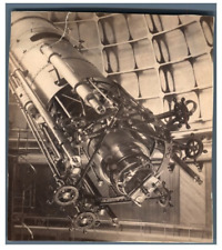 U.S.A., The Great Refractor Telescope at Lick Observatory  Vintage albumen print