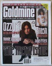 GOLDMINE 466 Jun 5 1998 The METAL ISSUE OZZY Slash JUDAS PRIEST Ronnie James DIO
