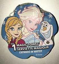 NEW Disney Magic Towel ~ Elsa Anna & Olaf from Frozen ~ Blue with Snowflakes