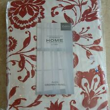 """JCPenny Home """"Flora"""" Grommet Panel 50x84"""" Curtain Coral / Rustic Red New NIOP"""