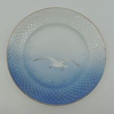 """SEAGULL by Bing & Grondahl Blue White Gold Trim Scales Salad Plate 7 1/2"""""""