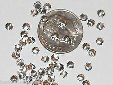 10pc. Miniature Dollhouse TINY little Silver Sea shells clam Pendant charm 3mm