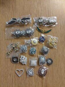 20 Pieces Of Crystal rhinestone job lot pendants clasp UK L7