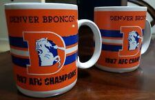 Vintage 1988 Denver Broncos Super Bowl XXII NFL Mug Set