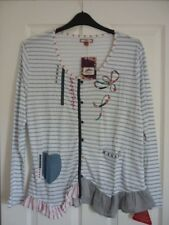 JOE BROWNS SHIP TO SHORE BOHO TOP BLUE WHITE STRIPE. UK 18, EUR 44-46, US 14. BN