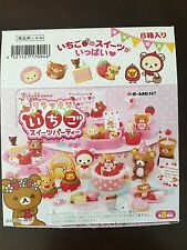 RE-MENT rare Full Rilakkuma Strawberry Party Treat, 1:6 Barbie kitchen food mini