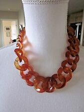 Simply Vera Wang Necklace Amber Tortoise Shell Link NWT $28  *U.S. Seller*