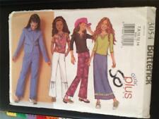Butterick Sewing Pattern 3054 Girls Jacket Top Skirt Pants Size 8 1/2- 16 1/2 UC