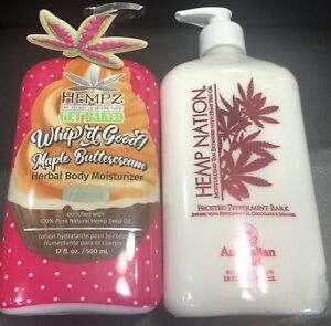 Hempz 17oz Lotion Holiday Whip It Good Maple Buttercream Duo/ Frosted Peppermint